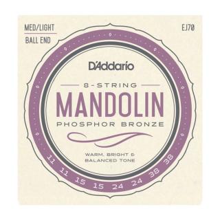 EJ70 Mandolin, Phosphor Bronze, Ball End,  Medium/Light, 11-38